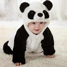 gambar bayi memakai kostum panda