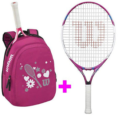 Set Wilson 25 růžový - raketa JUICE 25 a batoh Match JUNIOR růžový