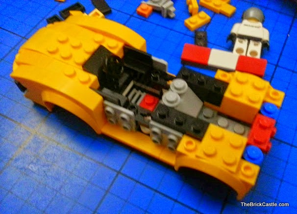 LEGO Speed Champions McLaren P1 set 75909 mid build