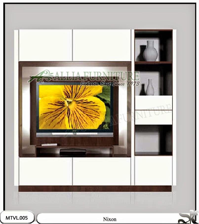 Lemari tv lcd minimalis model nixon
