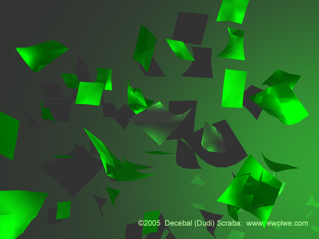 Exclusive Wallpapers 3d Green Wallpaper