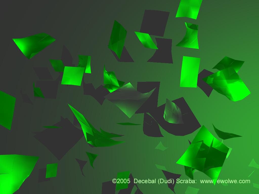 Exclusive wallpapers 3d green wallpaper for Exclusive 3d wallpaper