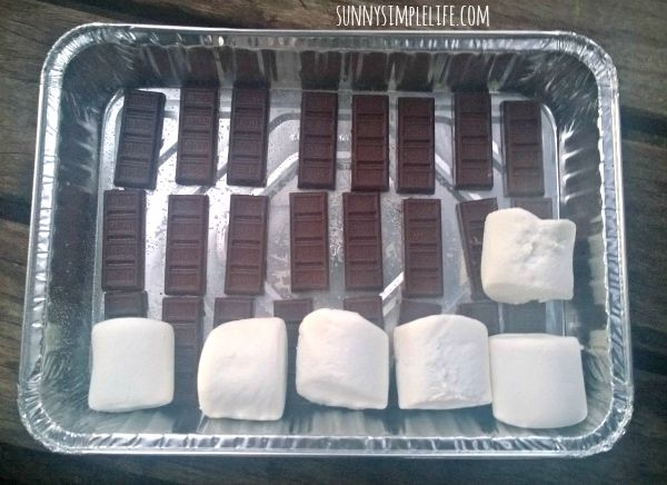 camping food, oven smores