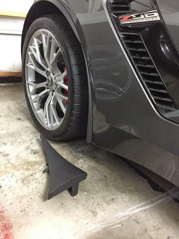 2015 Corvette C7 Z06 splash guards - stylistic disaster