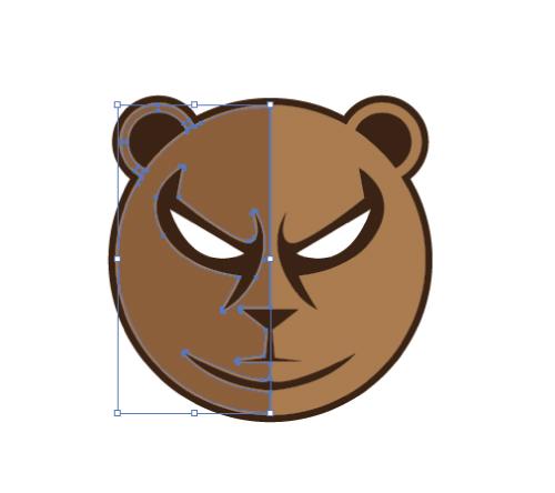 Membuat Maskot Logo Ilustratif Adobe Illustrator Berupa Simbol Beruang Selesai