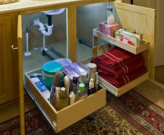 woodmaster woodworks inc solving the under the sink nightmare. Black Bedroom Furniture Sets. Home Design Ideas