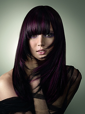 ... color rambut diorang dark purple i wish i could have this color