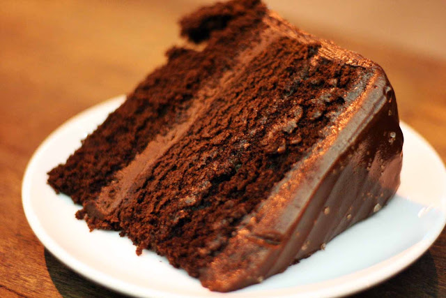 Salted Chocolate Cake Wildflour Cafe + Bakery
