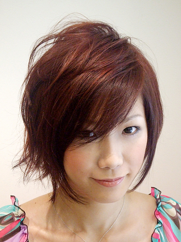 Korean Short Hairstyle Round Face