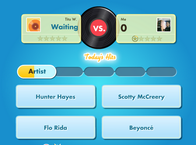 Playing SongPop at Facebook