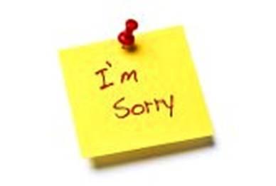 Gambar meminta maaf