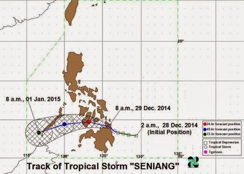 Bagyong Seniang Storm Signals Updates (December 29)