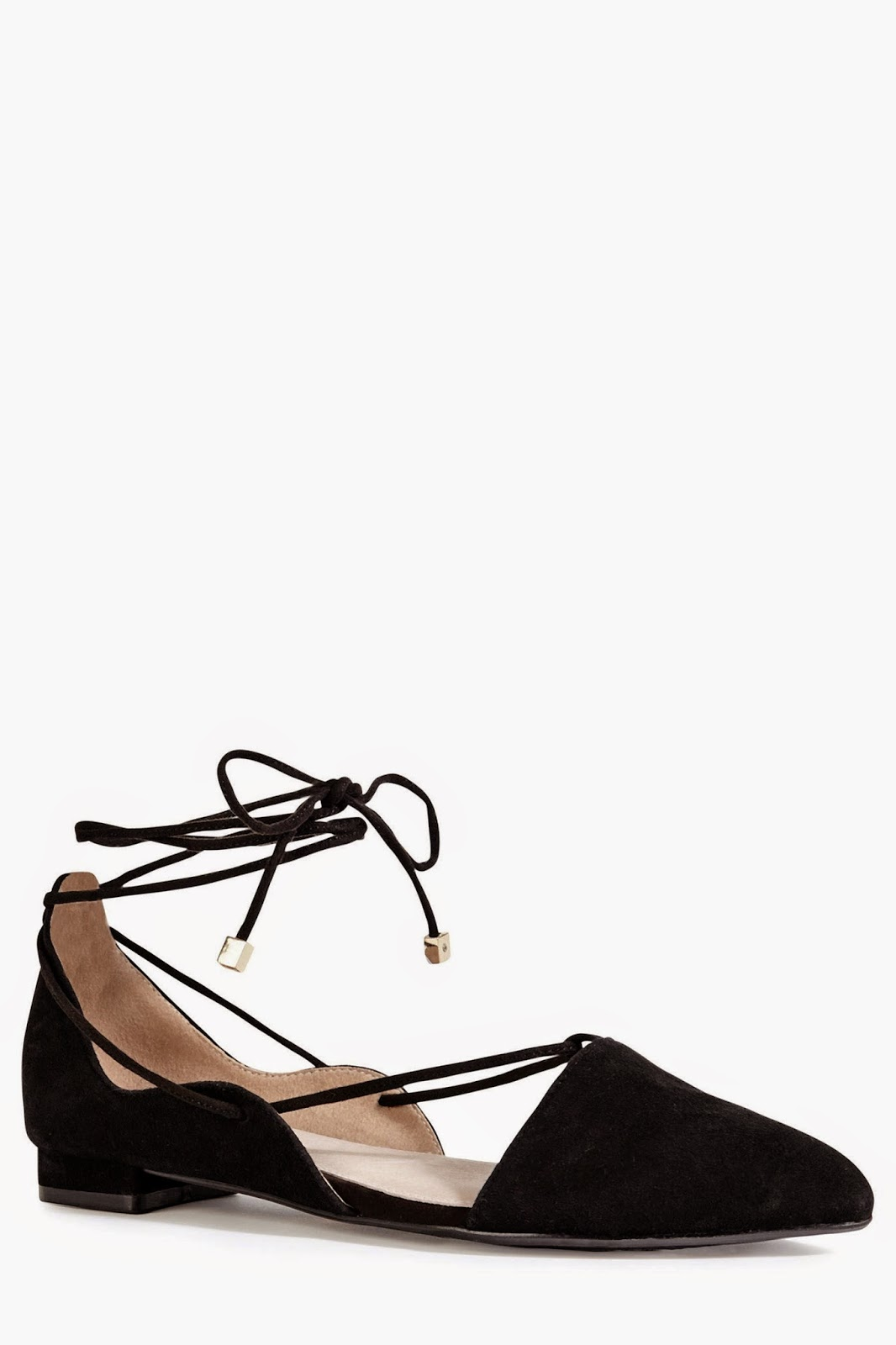 next black flats with lace tie, next black shoes with tie, black flats with ankle tie,
