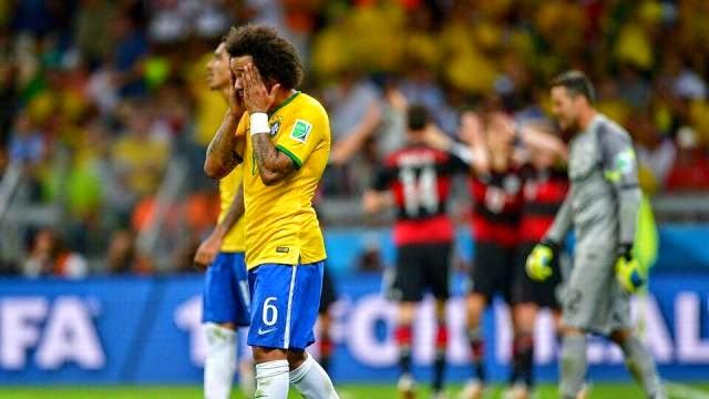 مارسيلو بعد الهزيمة امام المانيا