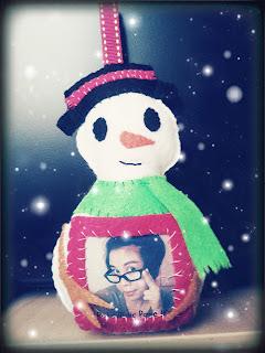 Snowman Picture Frame Ornament B4Astudios