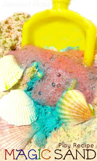 Homemade play recipes- MAGIC Sand