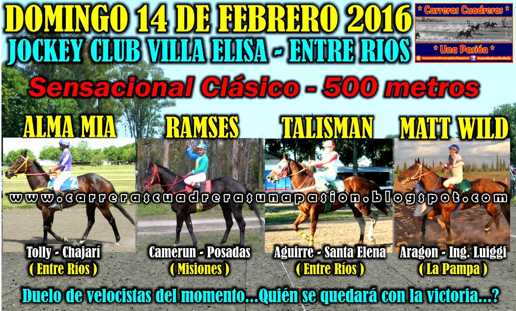 VILLA ELISA - CLASICO 500 - 14.02