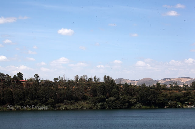 The Bishoftu Guda Lake in Ethiopia.