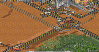 Desert Town in Transport Tycoon Deluxe
