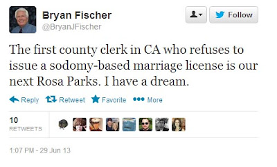 Bryan Fischer invokes Rosa Parks to support anti-gay hate