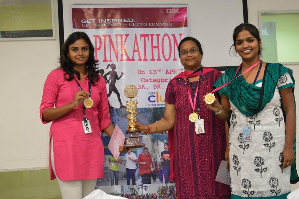 Winning 5k Corporate Pinkathon Run 2014