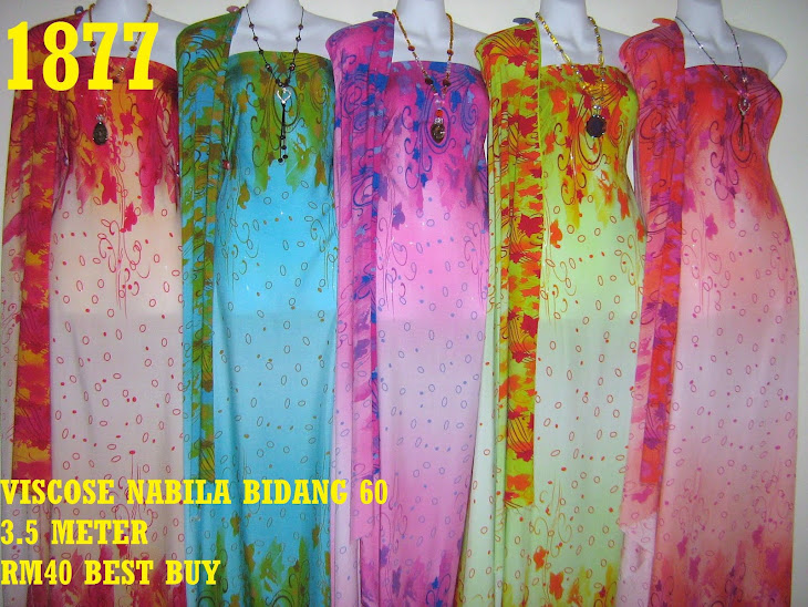 VN 1877: VISCOSE NABILA BIDANG 60 INCI, 3.5 METER