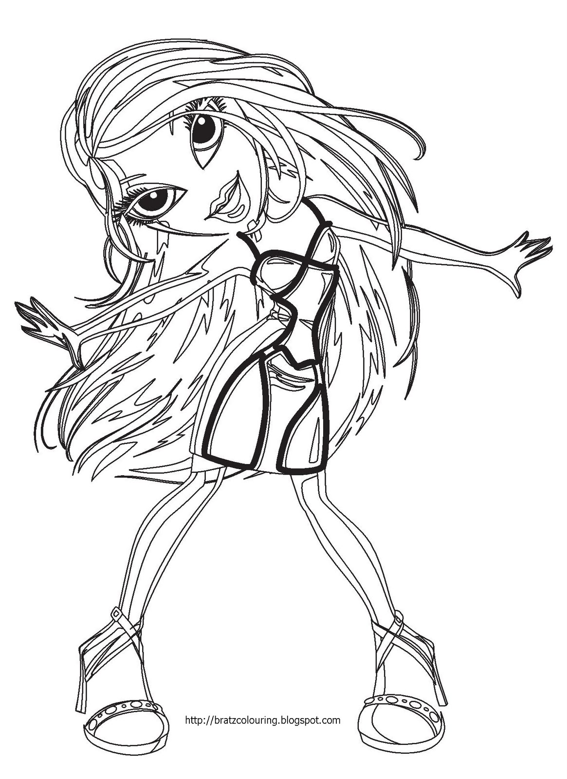 bratz coloring pages free print and color bratz coloring pages