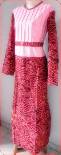 model baju batik muslim di rumah