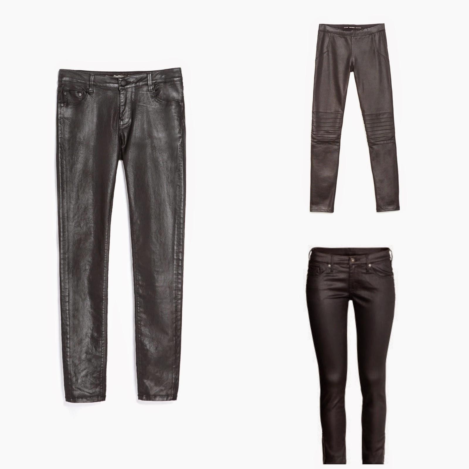 Vaxbyxor, Vaxpants, H&M, Zara