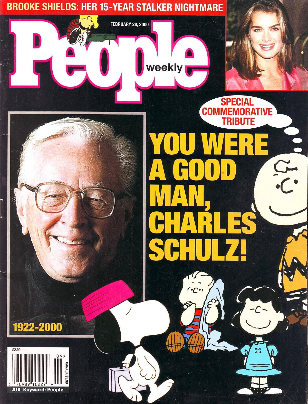 Image result for cartoonist charles schulz died