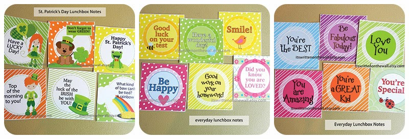 St. Patricks Day and Everyday Lunchbox Notes