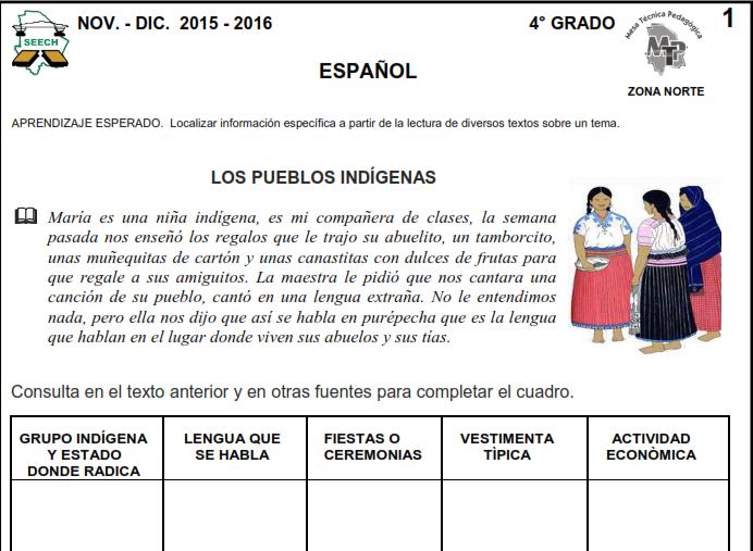 Material Didáctico de Apoyo para Cuarto Grado de Primaria Bimestre 2 ...