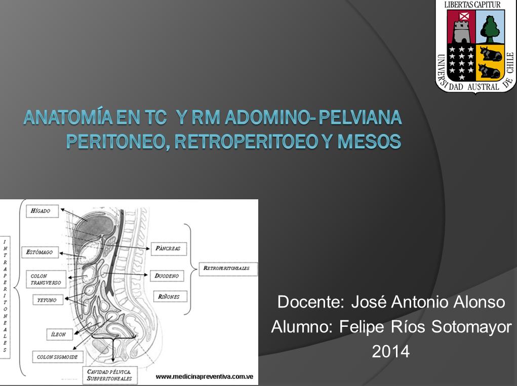Anatomía abdomino pelviana en TAC y RM (peritoneo, retroperitoneo y ...