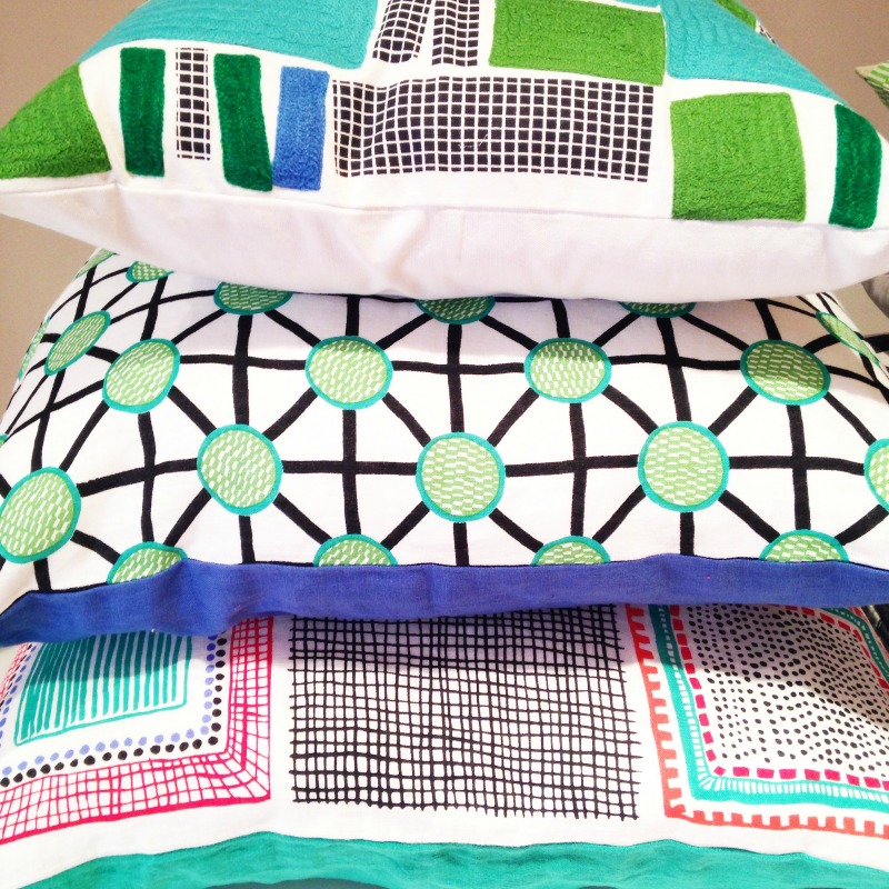 Beautiful patterned cushions habitat AW15 Range