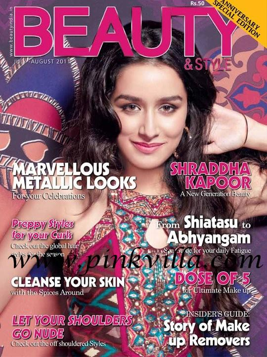 Shraddha Kapoor On  Beauty & Style Magazine Cover August 2011 Edition
