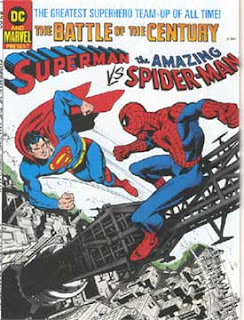 Comic Superman vs Spiderman