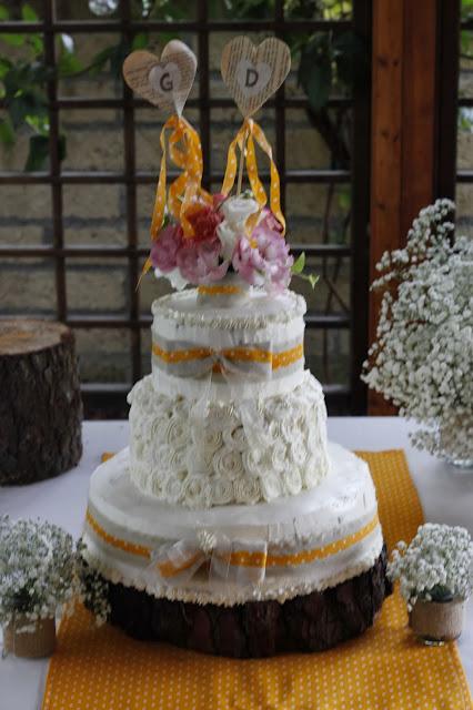 torta sposi tema rustico