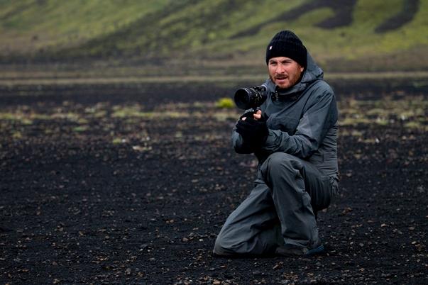 Darren Aronofsky en el set de Noé