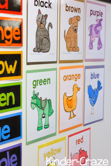 cute resources and FUN ideas for teaching color words