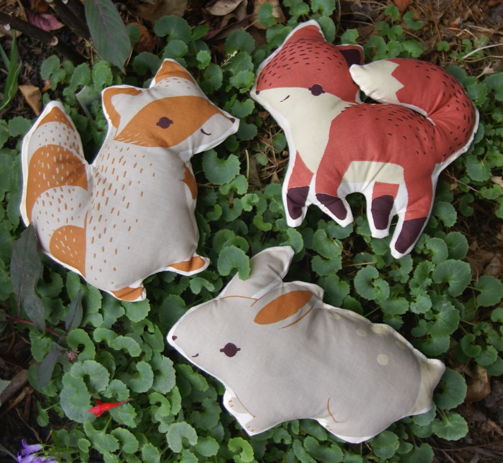 Acorn Trail Softies by Fabric Mutt