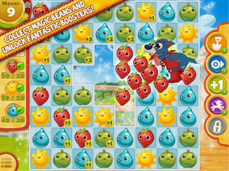 صورة من داخل لعبة فارم هيروز Farm Heroes Saga