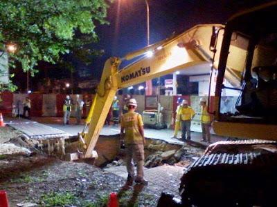 Bukit Bintang Update Foto Terbaru Tanah Mendap Memang Wujud Kereta Terjerumus
