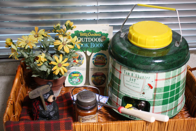 Vintage trailer decor, vintage drink container