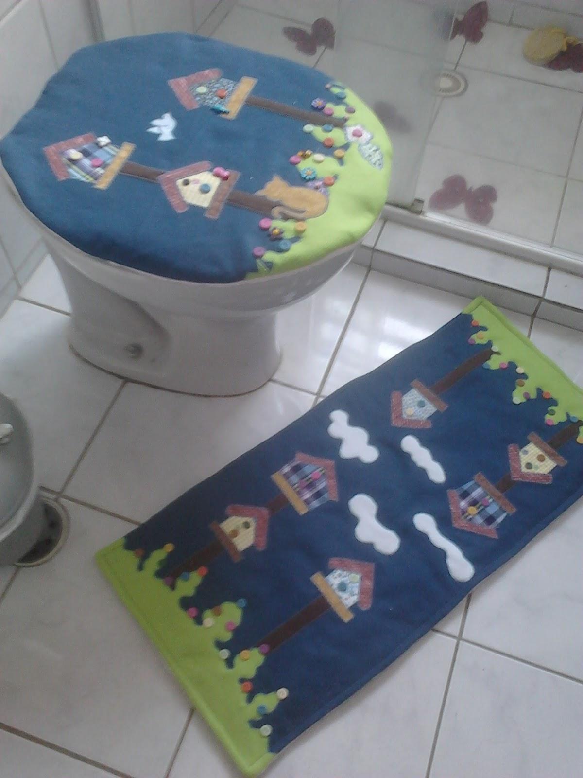 Patchwork Em Tapete De Banheiro : P? com Pano by Auri: Kit para Banheiro em Patchwork