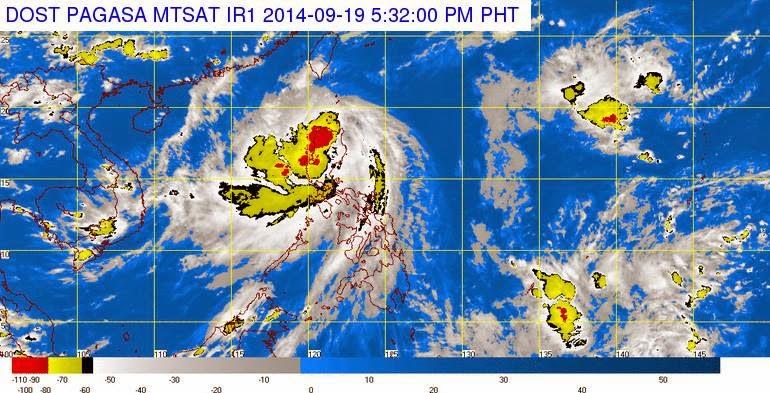 Typhoon Mario weakens while traversing Babuyan Channel