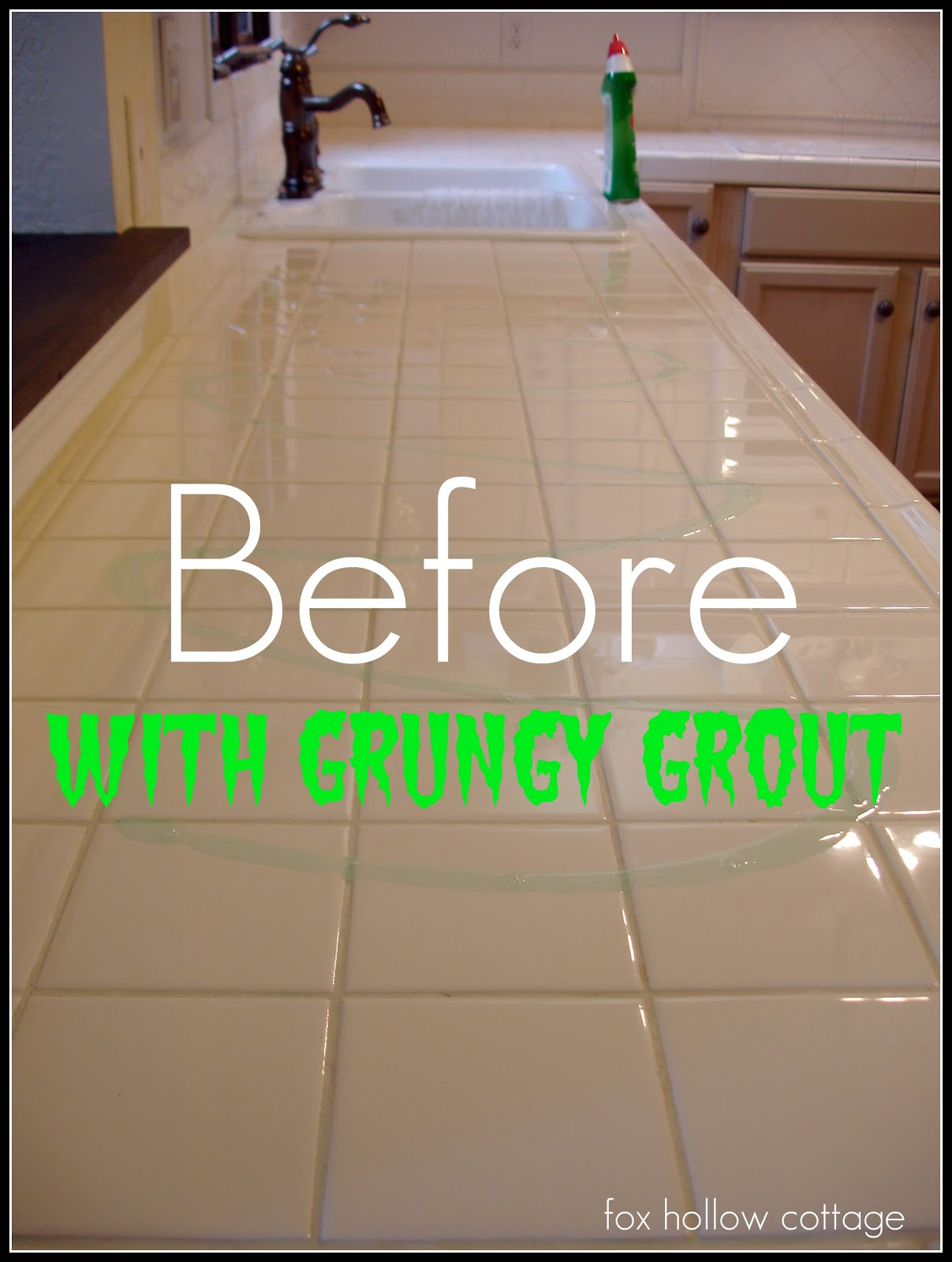 Getting Grout Clean White - Cleaning white grout lines