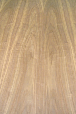 Light Figure Flat Cut Walnut Veneer.