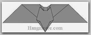 Bước 9: Hoàn thành cách xếp con dơi bằng giấy đơn giản theo phong cách origami.