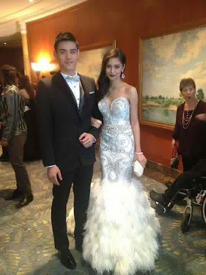 The very handsome Xian Lim and very gorgeous Kim Chiu in Star Magic Ball 2012