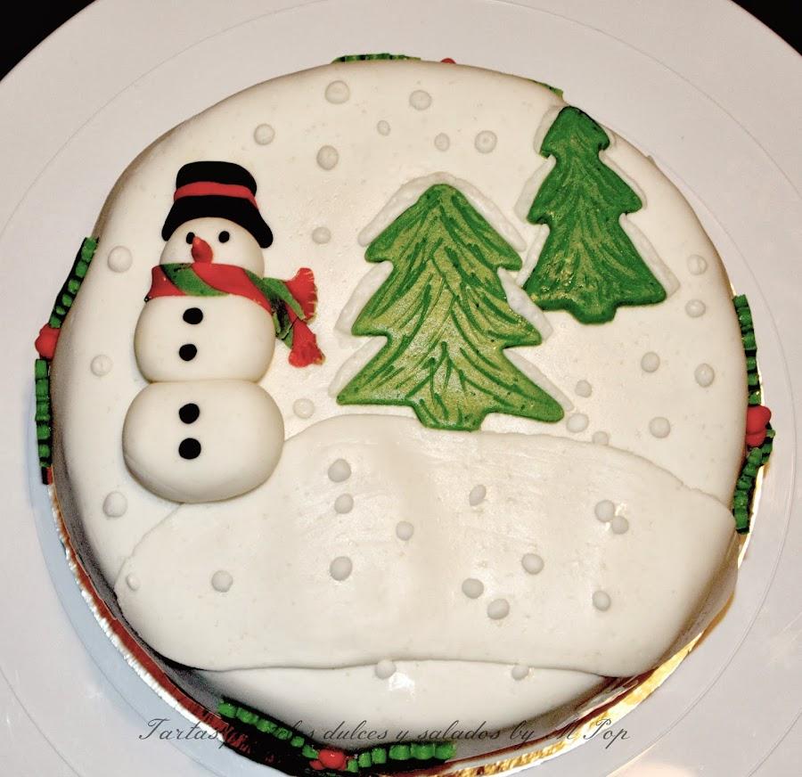 Una tarta de invierno y para el invierno. ¡Qué diseño tan original!